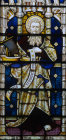 St Jude or St Thaddaeus window 8 south aisle St Edmundsbury Cathedral 19th century