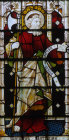 St Matthias chosen to replace Judas Iscariot as Apostle window 8 South aisle St Edmundsbury Cathedral 19th century