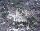 Gloucester cathedral, aerial from the south east, Gloucestershire, England, Great Britain