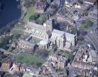 Worcester Cathedral from south west, aerial, Worcestershire, England, Great Britain