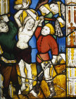 Flagellation of Christ, fifteenth century, Church of St James the Great, St Kew, Cornwall, England
