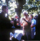 Prostestant Communion, Priest passing the Chalice, France