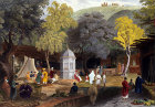 The Antioch Market Turkey 1840 engraving by W.H.Bartlett  painted by Laura Lushington