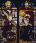 Annunciation, 16th century Netherlandish stained glass panel in the Victoria and Albert Museum, London, England, Great Britain