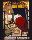Birth of St Nicholas, 16th century Netherlandish stained glass panel, Victoria and Albert Museum, London, England, Great Britain