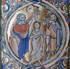 Samuel annointing David, Winchester Bible, 12th century