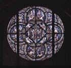 Rose window,  north transept, Canterbury Cathedral, Kent, England, Great Britain