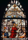 St Bernard being received by abbot, sixteenth century German panel from Altenburgh, now in St Mary