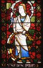 Isaiah detail from the Jesse window in St Marys Church Shrewsbury