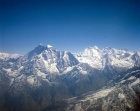 Nepal Himalayas Gauri  Shankar on the left 7134m or 23.406ft  top centre Melungtse 7181m or 23.560ft