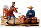 Travelling cook and hard boiled egg seller, engraving from La Chine en miniature, 1811, volume V, by Jean Baptiste Joseph de la Martiniere