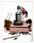 Chinese distillation of rice liquor, engraving from La Chine en miniature, 1811, by Jean Baptiste Joseph de la Martiniere