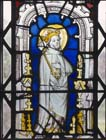 St Edmund the King, 15th century stained glass panel, Church of St Mary, Stoke d