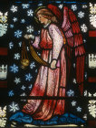 Censing angel, designed by William Morris, 1882, Church of St Peter and St Paul, Cattistock, Dorset, England