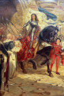 Joan of Arc, oil on canvas by Fred Roe, England