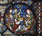 Adoration of the Magi, 13th century stained glass, Canterbury Cathedral, Kent, England, Great Britain