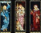 Hope, Charity and Faith, the theological virtues, by Edward Burne-Jones, 1887, St Martin