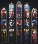 England, Brampton, Cumbria, St Martins Church, east window by Burne-Jones 1880-81