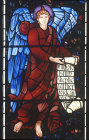 England, Brampton, Cumbria, St Martins Church, east window detail middle row left  by Burne-Jones 1880-81