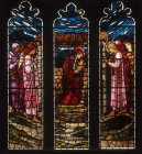 Nativity window, by Edward Burne-Jones, 1881, All Hallows Church, Allerton, Liverpool, Lancashire, England