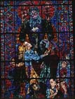 Peace, stained glass 1956, Canterbury Cathedral, Kent, England, Great Britain