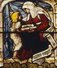 Timothy and Eunice, stained glass 1872-1873 by Edward Burne-Jones, Christ Church Cathedral, Oxford, England, Great Britain