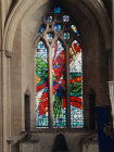 Window by Keith New, circa 1965, south choir aisle, Bristol Cathedral, Avon, England