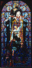 Salvation window by Bossanyi,  20th century stained glass, Canterbury Cathedral, Kent, England, Great Britain