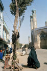 Afghanistan, Herat street scene, Friday Mosque in background