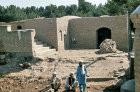 Afghanistan, Herat, men by the river