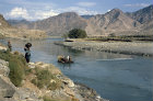 Afghanastan, Kunar, ferry over the river