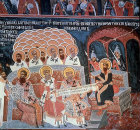 Second Oecumenical Council, 381, which changed Nicene creed to present form, seventeenth century wall painting in church at Abanasi, Bulgaria