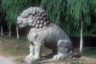 Seated lion, fifteenth century, on Sacred Way leading to Ming Tombs, China