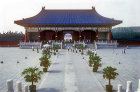 Temple of Heaven (Tien Tan) and part of surrounding courtyard, Beijing, China