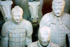 Terracotta Warriors and horses, late third century BC, buried with Qin Shi Huang, first emperor of China, Xi