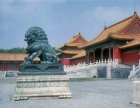 Bronze lion beside Gate of Supreme Harmony (Tai Ho Men), Imperial Palace, Beijing, China