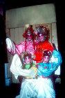 Four girl opera actors, Chinese Opera, Kwangchow (Canton),