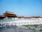 Courtyard of Gate of Supreme Harmony (Taihe  Men), Ming Dynasty, and Golden Water Stream, Imperial Palace, Beijing, China