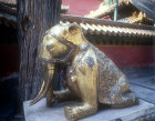 Gilded bronze elephant at the Gate of Inherited Glory, Imperial Gardens, Imperial Palace, Beijing, China