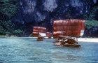 Li River and Junks under sail, China