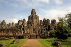 Bayon temple, general view, Angkor Thom, completed late twelfth century by King Jayarman VII, Cambodia