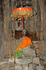 Buddha in gopura on north side, Bayon temple, Angkor Thom, completed late twelfth century by Jayavarman VII, Cambodia