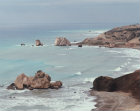 Paphos Cyprus rocks in a bay on south coast where legend says that Aphrodite rose from the waves