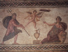 Paphos Cyprus Poseidon Eros and Amymone a mosaic in a Roman Villa dating from the 3rd century AD