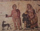 Paphos Cyprus Hippolytus and Phaedra mosaic in Roman Villa 3rd century AD