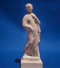 Tanagra figure, fourth century BC, Greek terracotta, Nicosia Museum, Cyprus