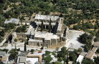Bellapais Abbey, aerial view from south, Northern Cyprus