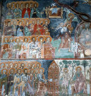 Cyprus, Kalogrea, Church of Christ Antiphonitis, the Last Judgement, St Peter opening the gates