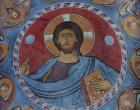 Christ Pantocrator, 12th century mural, Church of Panagia tou Arakou, Lagoudera, Cyprus
