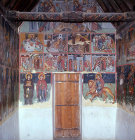 Cyprus, Paleochorio, the Church of the Saviour, murals on the wall at the west end dating from the 15th century